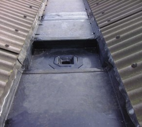 AFTER EXAMPLES OF A STEPPED LEAD LINED GUTTER ON THE FORMER TRAIN SHEDS AT CREWE
