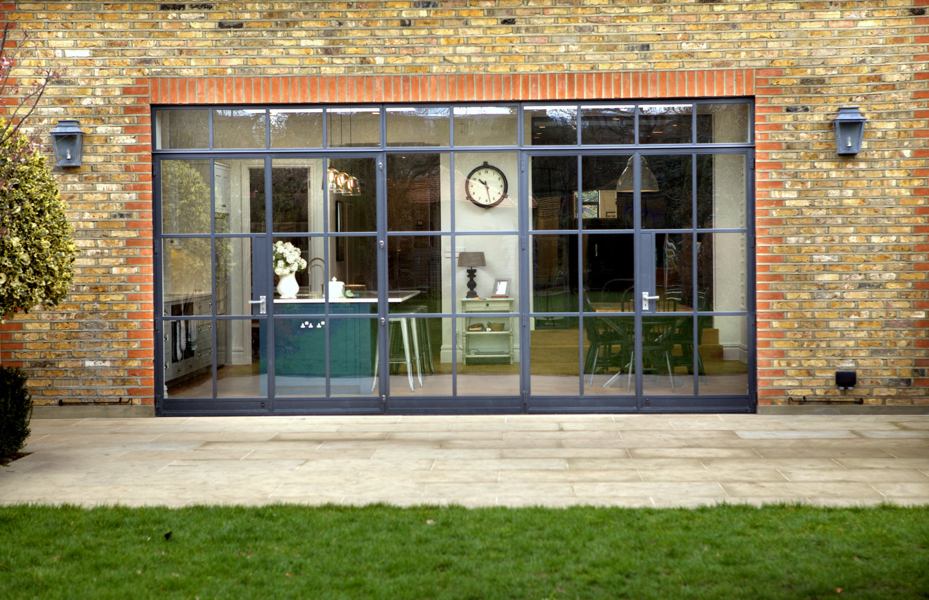 steel windows bring industrial style to domestic extension design buy build. Black Bedroom Furniture Sets. Home Design Ideas