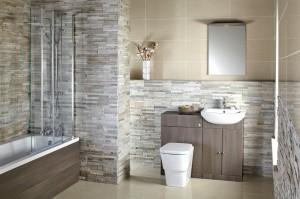 Aquapure Bathroom Furniture Range 1 in Avola Grey (RS)
