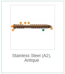 Stainless Steel (A2) Antique
